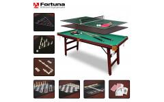 Бильярдный стол Fortuna Пул 6фт 9 в 1 с комплектом аксессуаров